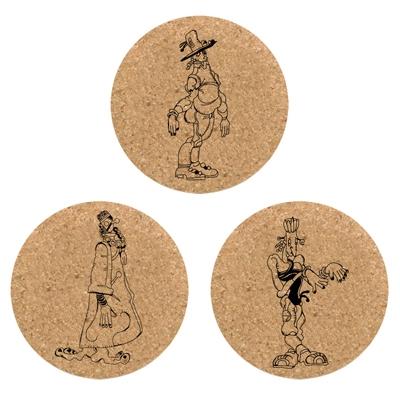 ジョジョの奇妙な冒険 スターダストクルセイダース×TOWER RECORDS コルクコースター3枚セット B [MD01-1356]