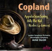 アンタル・ドラティ/A.Copland: Appalachian Spring, Billy the Kid, Rodeo - 4 Dance Episodes[ALC1229]