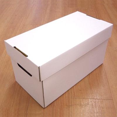 DISKUNION EP用ダンボール(フタ付き)/140枚収納/白 [ACS15]