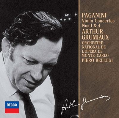 アルテュール・グリュミオー/パガニーニ:ヴァイオリン協奏曲第1番・第4番<限定盤>[UCCD-9833]