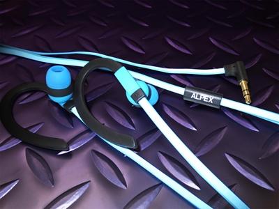 ALPEX リフレクターイヤフォン AHP-113 Pastel Blue [AHP-113PB]