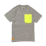 TOWER RECORDS×CHUMS PARTY POCKET TEE H-GRAY/Lサイズ