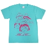 ちびまる子ちゃん × TOWER RECORDS T-shirt Mint Green/XLサイズ