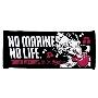 NO MARINES, NO LIFE. '17 フェイスタオル_ブラック_マーくん