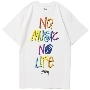 TOWER RECORDS × STUSSY NMNL3D TEE White/Sサイズ