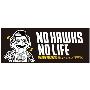NO HAWKS, NO LIFE. 2015 フェイスタオル Black