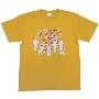 ちびまる子ちゃん × TOWER RECORDS T-shirt Gold/XLサイズ