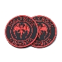 Hollywood Vampires Rubber Coaster RED