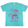 ちびまる子ちゃん × TOWER RECORDS T-shirt Mint Green/Sサイズ
