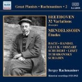 Rachmaninov - Solo Piano Recordings Vol.2 - Beethoven, Mendelssohn, etc