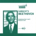 Sargent's Beethoven; Beethoven: Symphony 4 & 5; Grieg: Lyric Suite (1945-6) / Malcolm Sargent(cond), National Symphony Orchestra