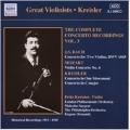 Kreisler: Complete Concerto Recordings, Volume 3