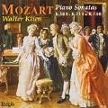 Mozart: Piano Sonatas K309, K310, K311 and K330 / Walter Klien