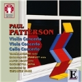 P.Patterson: Violin Concerto, Viola Concerto, Cello Concerto