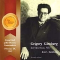 Live Recordings Vol.1 - Liszt, Ginzburg - Piano Works