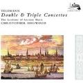 Telemann: Double & Triple Concertos -Concerto for 3 Trumpets, Quadro, Concerto for Recorder & Flute, etc (7/1981) / Christopher Hogwood(cond), AAM, Friedmann Immer(natural trumpet), etc