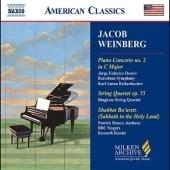 Kenneth Kiesler/Jacob Weinberg: Piano Concerto No.2, String Quartet Op.55, Shabbat Ba'aretz (Sabbath in the Holy Land Service), etc[8559457]