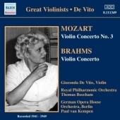 ジョコンダ・デ・ヴィート/Mozart: Violin Concerto No.3 K.216; Brahms: Violin Concerto Op.77 / Gioconda de Vito, Thomas Beecham, RPO, etc[8111349]