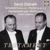 ダヴィド・オイストラフ/シューマン/クライスラー編: 幻想曲 Op.131、フランク: ヴァイオリン・ソナタ、シマノフスキ: 神話 Op.30(全3曲)、ラヴェル: ツィガーヌ[SBT1442]