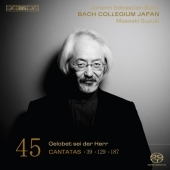 J.S.Bach: Cantatas Vol.45 - No.39, No.129, No.187, Sinfonia BWV.1045 / Maasaki Suzuki, Bach Collegium Japan, etc