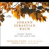 エッケハルト・ウェーバー/J.S.Bach: 3 Sonatas for Viola da Gamba BWV1027-1029, Trio Sonata BWV1038 [232272]