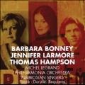 Durufle: Requiem; Faure: Requiem / Michel Legrand(cond), Philharmonia Orchestra, Ambrosian Singers, Barbara Bonney(S), Jennifer Larmore(Ms), Thomas Hampson(Br)