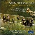 メンデルスゾーン: 交響曲第1番&第4番、ヴィトマン: トランペット小協奏曲