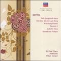 Britten: Folk Songs, A Birthday Hansel, Canticle V, Suite for Harp, etc / Peter Pears(T), Osian Ellis(hp), Wilbye Consort