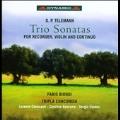 G.P.Telemann: Trio Sonatas for Recorder, Violin & Continuo