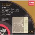 BRAHMS:DOUBLE CONCERTO/TRAGIC OVERTURE (1956)/BRUCH:VIOLIN CONCERTO NO.1 (1954):DAVID OISTRAKH(vn)/PIERRE FOURNIER(vc)/ARCEO GARRIERA(cond)/PHILHARMONIA ORCHESTRA