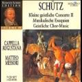H.Schutz: Kleine Geistliche Konzerte Op.9, Musikalische Exequien Op.7, etc [CD+CD-ROM]