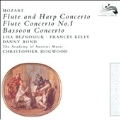 Mozart: Concerto for Flute & Harp K.299, Bassoon Concerto K.191, Flute Concerto No.1 K.313 (9/1986, 1/1987) / Christopher Hogwood(cond), AAM, Lisa Beznosiuk(fl), Frances Kelly(hp), etc
