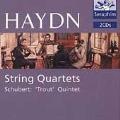 Chamber Works - Haydn: String Quartet in A D.667, Op.114; Schubert: Trout Quintet No.62 / Georg Hortnagel(cb), Jurgen Kussmaul(vc), etc