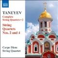 Taneyev: Complete String Quartets Vol.2