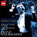 """Schumann: Symphonies No.2, No.3 """"Rhenish""""; Mendelssohn: Symphonies No.3 """"Scottish"""", No.4 """"Italian"""" / Franz Welser-Most(cond), LPO"""