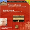 Brahms: Symphony No 3; Dvorak: Symphony No 8.