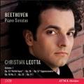 """Beethoven: Piano Sonatas Vol.1 -No.8 """"Pathetique""""Op.13, No.7 Op.10-3, No.12 Op.26, No.23 """"Appassionata """" Op.57, No.24 """"A Therese""""Op.78, No.32 Op.111 / Christian Leotta(p)"""