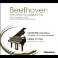 Beethoven: The 5 Piano Concertos No.1-No.5 (11/9,11/1994) / Christian Zacharias(p), Armin Jordan(cond), SRO