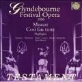 モーツァルト: 歌劇「コジ・ファン・トゥッテ」(ハイライト)~リハーサル・テイクを含む