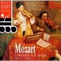 Mozart: Concerto for Violin Nos 2, 3 & 4 / Adolph, et al