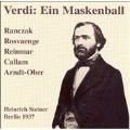 VERDI :UN BALLO IN MASCHERA (IN GERMAN) :HEINRICH STEINER(cond)/BERLIN REICHSSENDERS ORCHESTRA/HELGE ROSVAENGE(T)/ETC