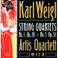 K.Weigl :String Quartets No.1 Op.20/No.5 Op.31 (1999): Artis Quartett Wien