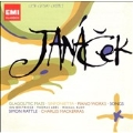 Janacek: Symphonietta Op.60, Glagolitic Mass, Concertino, etc / Simon Rattle(cond), Philharmonia Orchestra, etc