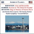 """Bernstein: Arias and Barcarolles; Barber: Overture to """"The School for Scandal""""; Diamond: Elegy in Memory of Maurice Ravel"""