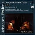Brahms: Complete Piano Trios Vol 2 / Trio Parnassus