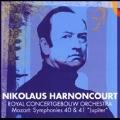 Mozart: Symphony No.40, No.41 / Nikolaus Harnoncourt(cond), Royal Concertgebouw Orchestra