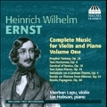 H.W.Ernst: Complete Music for Violin & Piano Vol.1