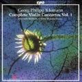 Telemann: Complete Violin Concertos Vol 1 / Wallfisch, et al
