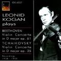 Beethoven: Violin Concerto Op.61 (1/17/1958); Tchaikovsky: Violin Concerto Op.35 (10/31/1950) / Leonid Kogan(vn), Rudolf Kempe(cond), Orchestra Sinfonica di Torino della RAI, etc
