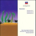 "Prokofiev: Symphonies No.1 Op.25 ""Classical"", No.5 Op.100, No.6 Op.111 / Ernest Ansermet, SRO, Paris Conservatoire Orchestra"